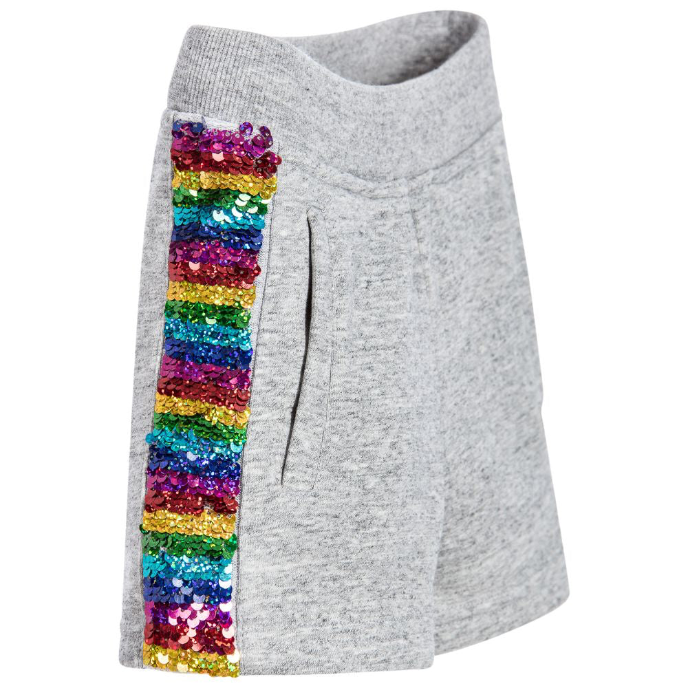 Marc Jacobs Girls Grey Sweatshorts Colorful Sequins