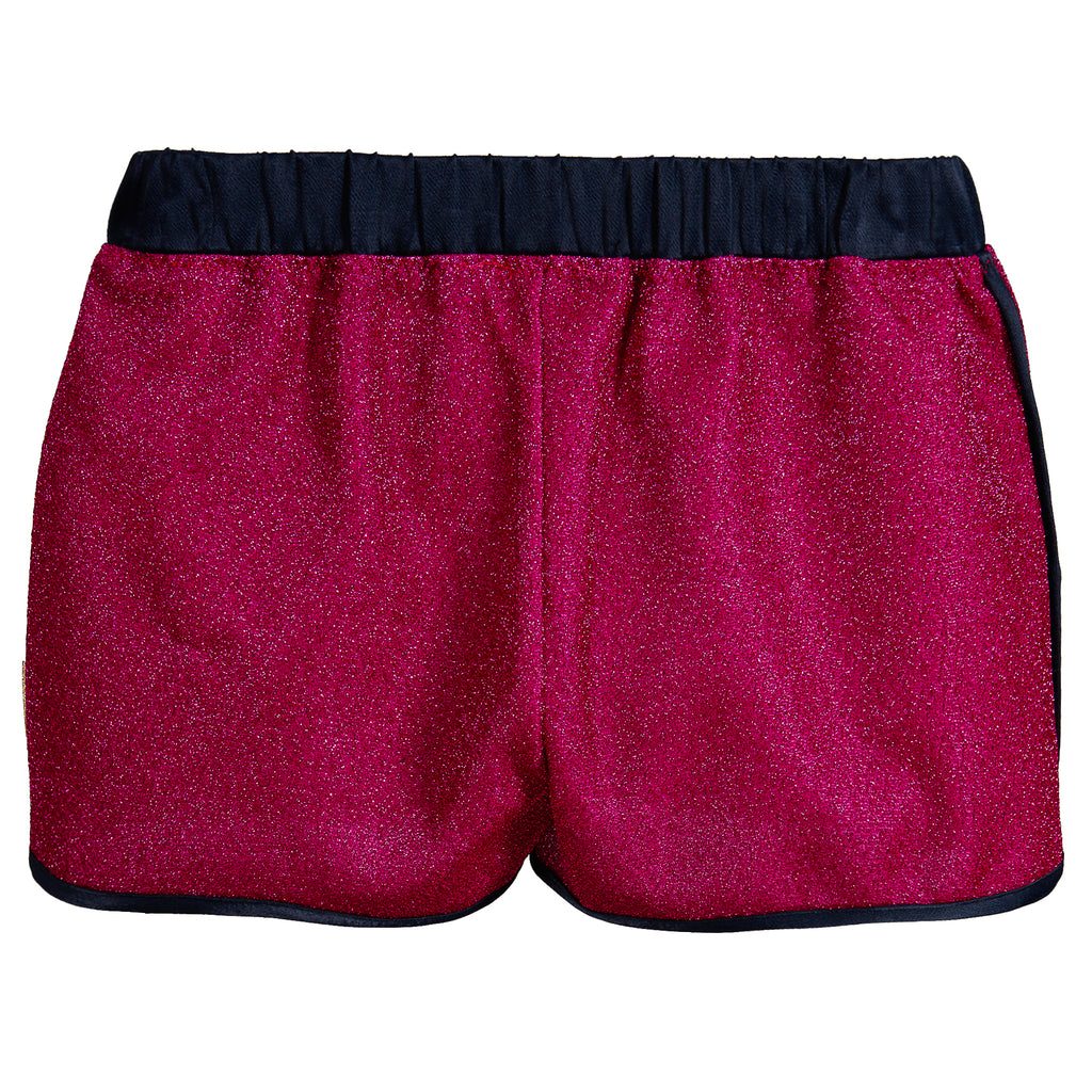 Girls Pink Glitter Shorts