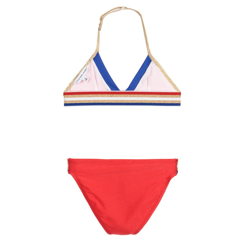Little Marc Jacobs Girls Red, Gold, Blue Bikini Girls Swimwear Little Marc Jacobs [Petit_New_York]