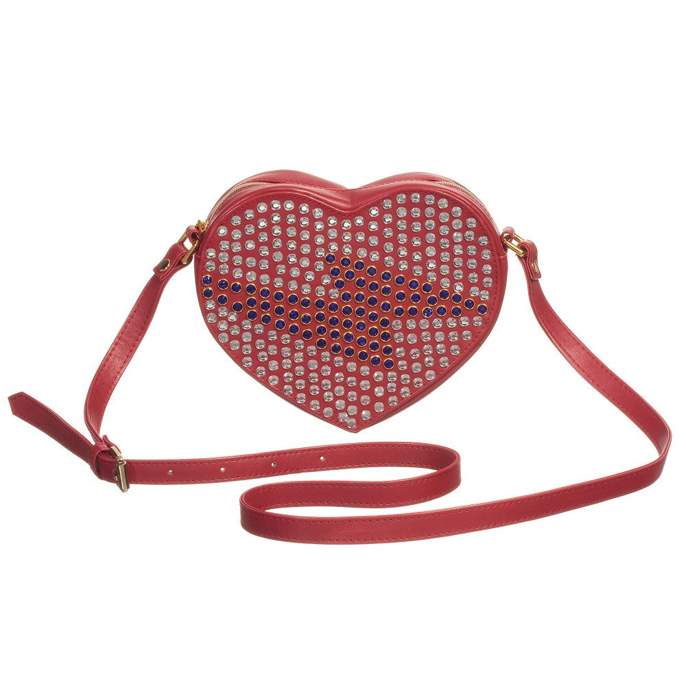 Little Marc Jacobs Girls Red Heart Shoulder Bag Accessories Little Marc Jacobs [Petit_New_York]