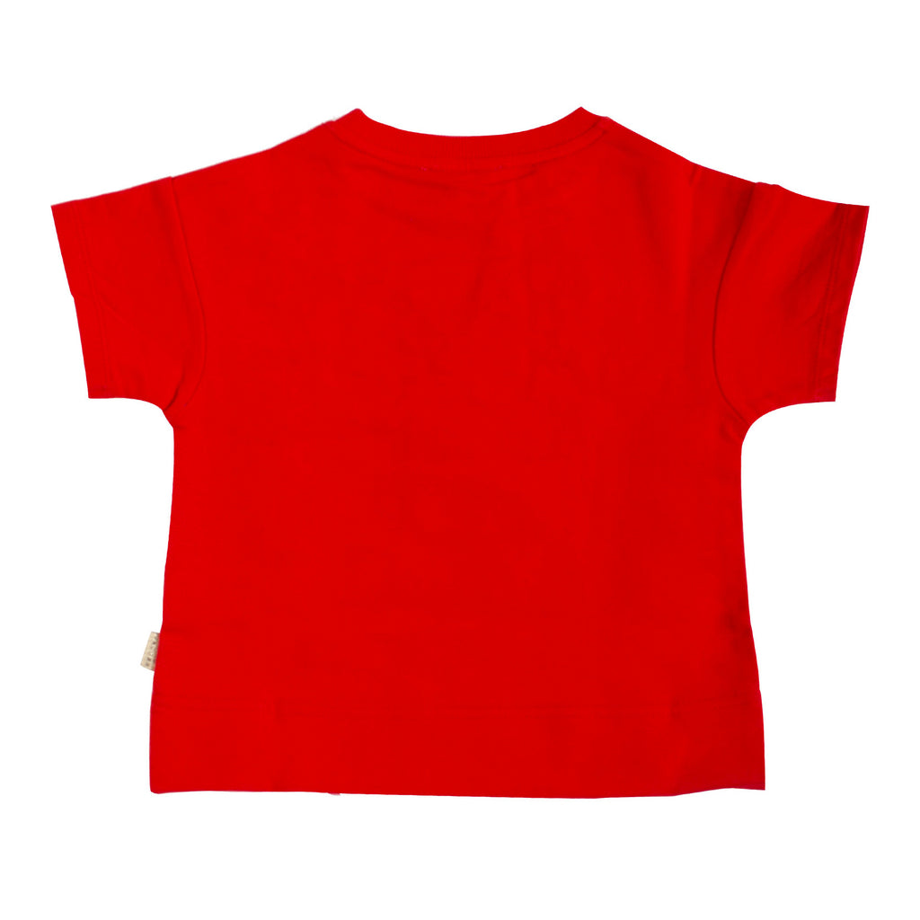 Girls Red with Gold Logo T-shirt