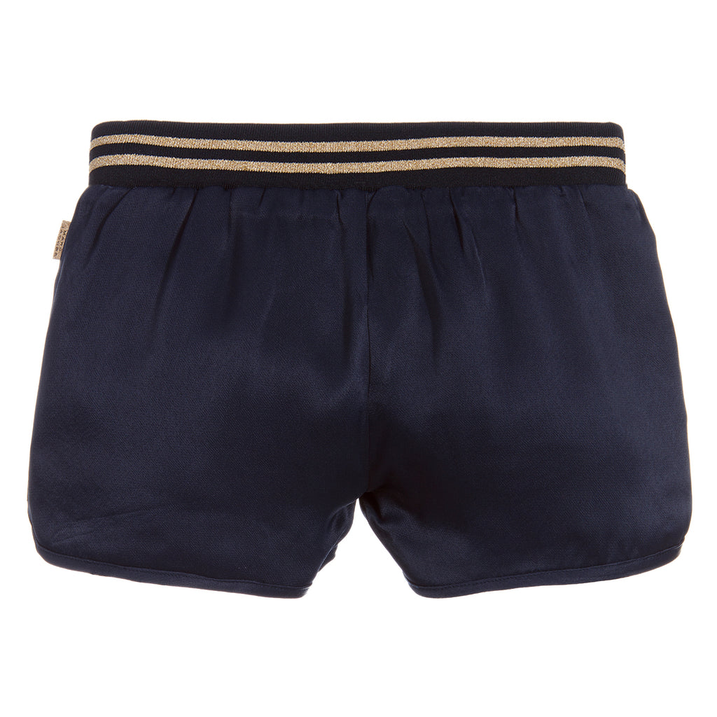 Marc Jacobs Girls Reversible Shorts Blue & Leopard