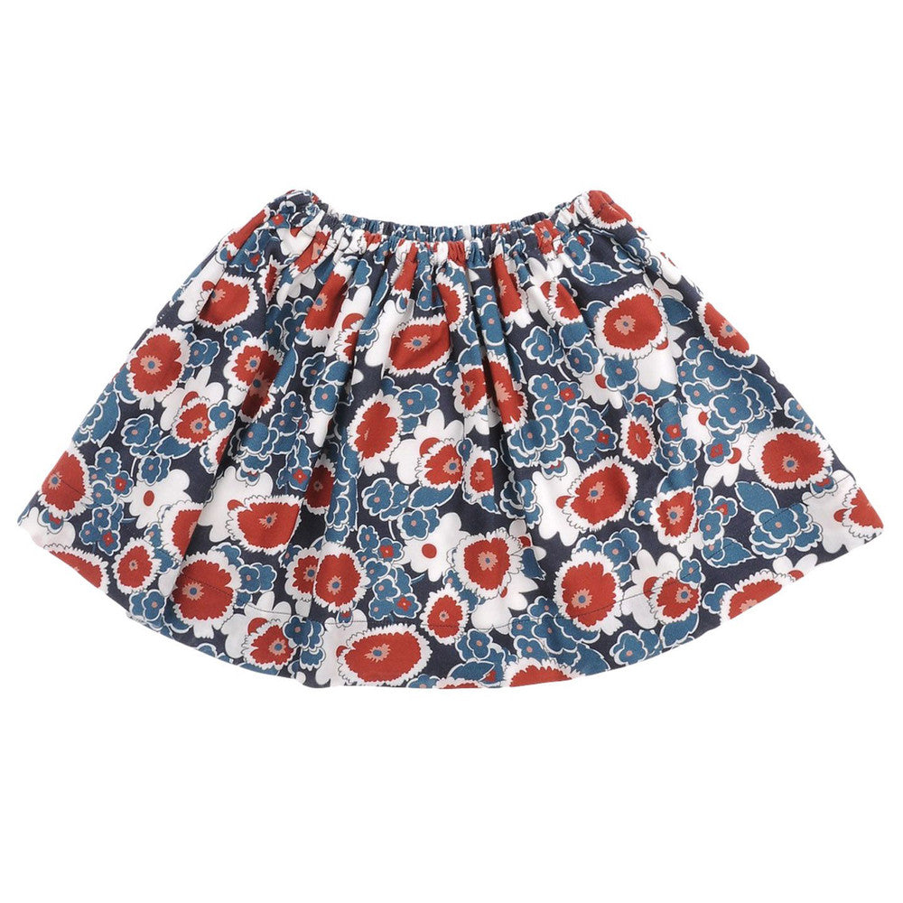 Marni Girls Blue and Red Floral Skirt Girls Skirts Marni [Petit_New_York]