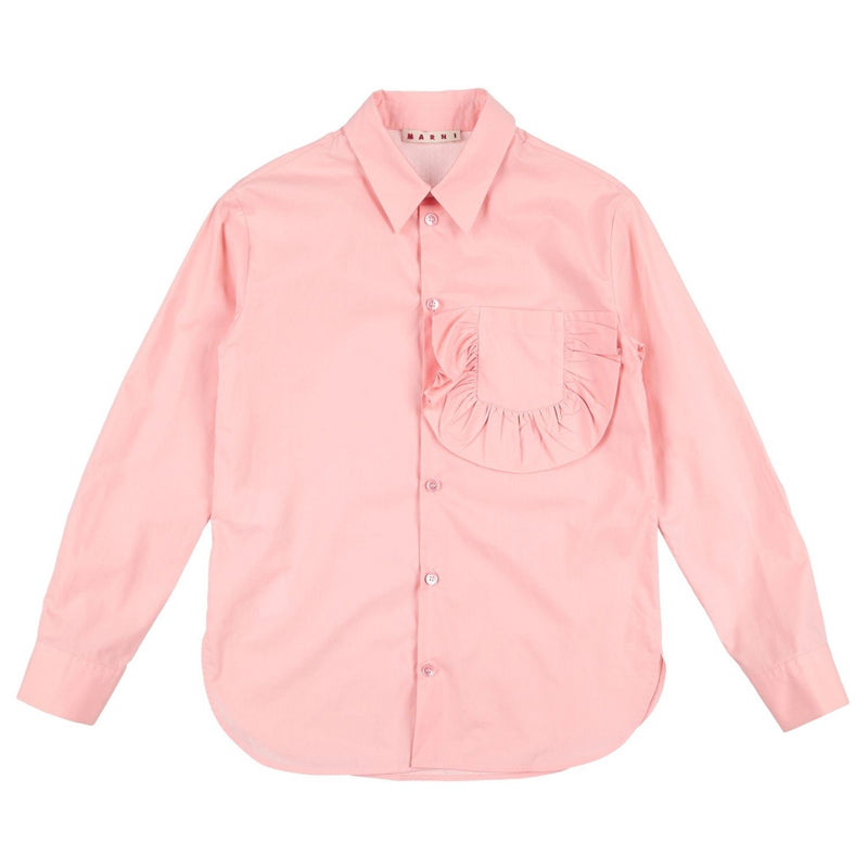 Marni Girls Pink Fancy Pocket Blouse