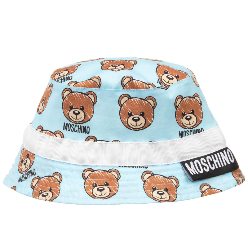 Baby Boys Blue Teddybear Logo Hat
