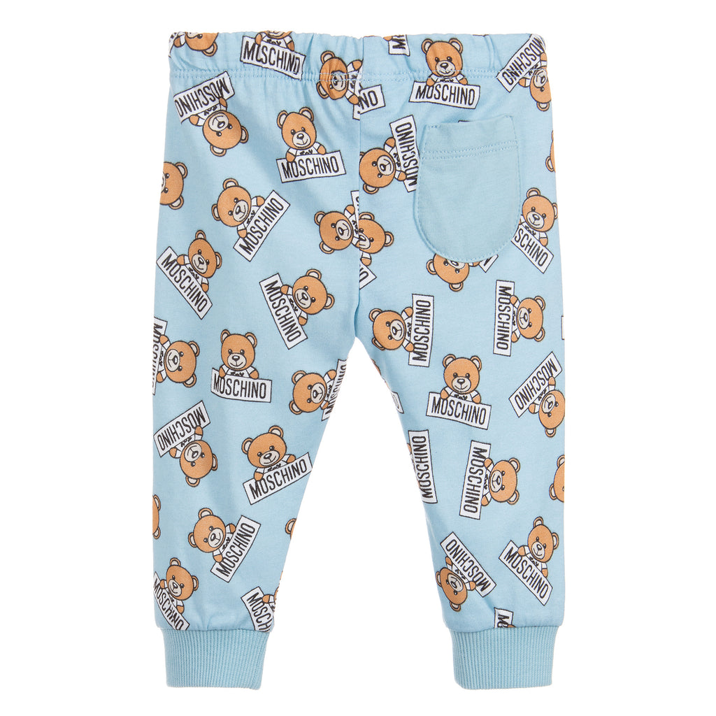 Moschino Baby Boys Blue Teddybear Logo Set