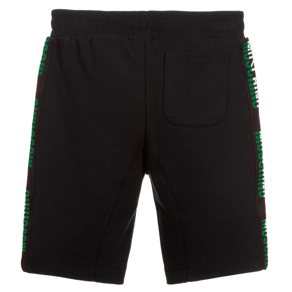 Boys Black with Colorful Logo Sweatshorts (Mini-Me)