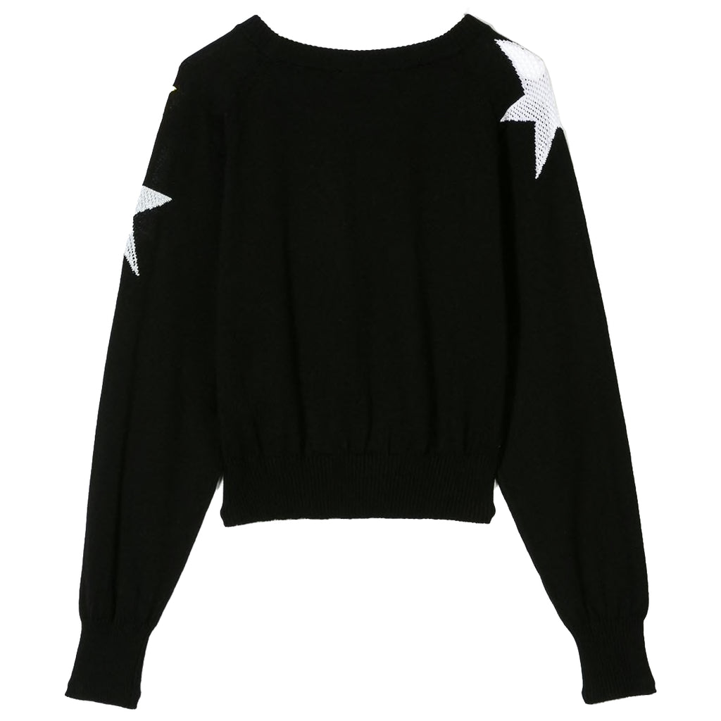 Moschino Girls Black Fancy Stars Sweater