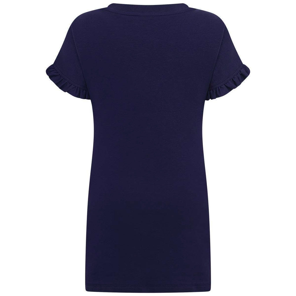 Girls Blue Teddy Logo Dress