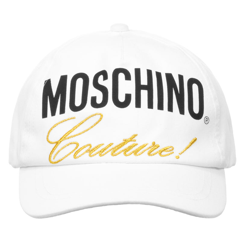 Girls White & Gold Logo Cap (Mini-Me)
