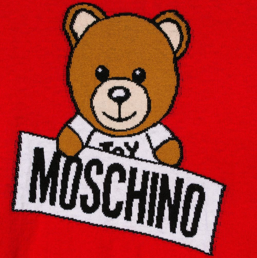 Moschino Red Teddybear Logo Sweater (unisex)