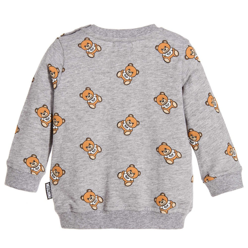 Moschino Baby grey Teddy Print Sweatshirts