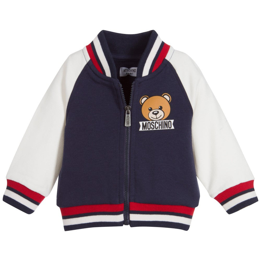 Moschino Baby Teddy Bear Zip Up Hoodie