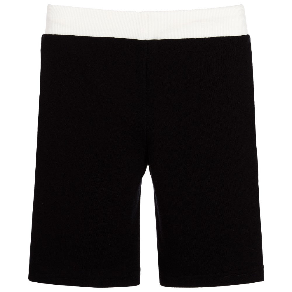 Moschino Boys Black Logo Sweatshorts