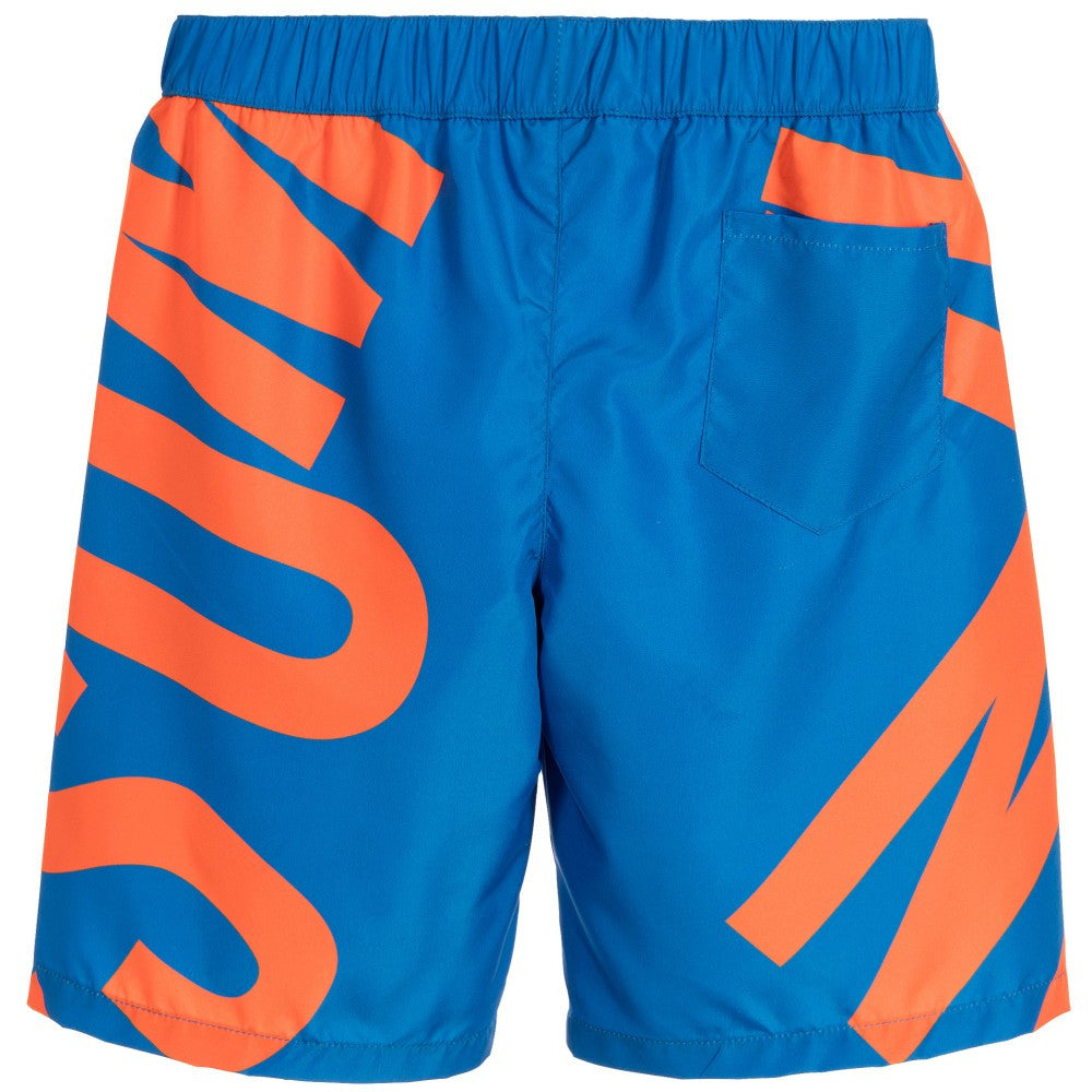 Moschino Boys Marine Blue Logo Swim Shorts