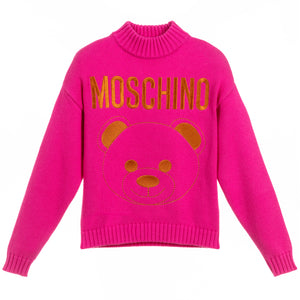 Girls Pink with Bronze Bear Logo Sweater (Mini-Me)