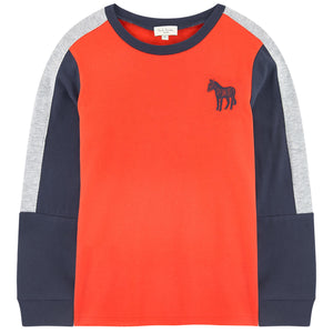 Paul Smith Boys Color Block Long-Sleeved T-shirt
