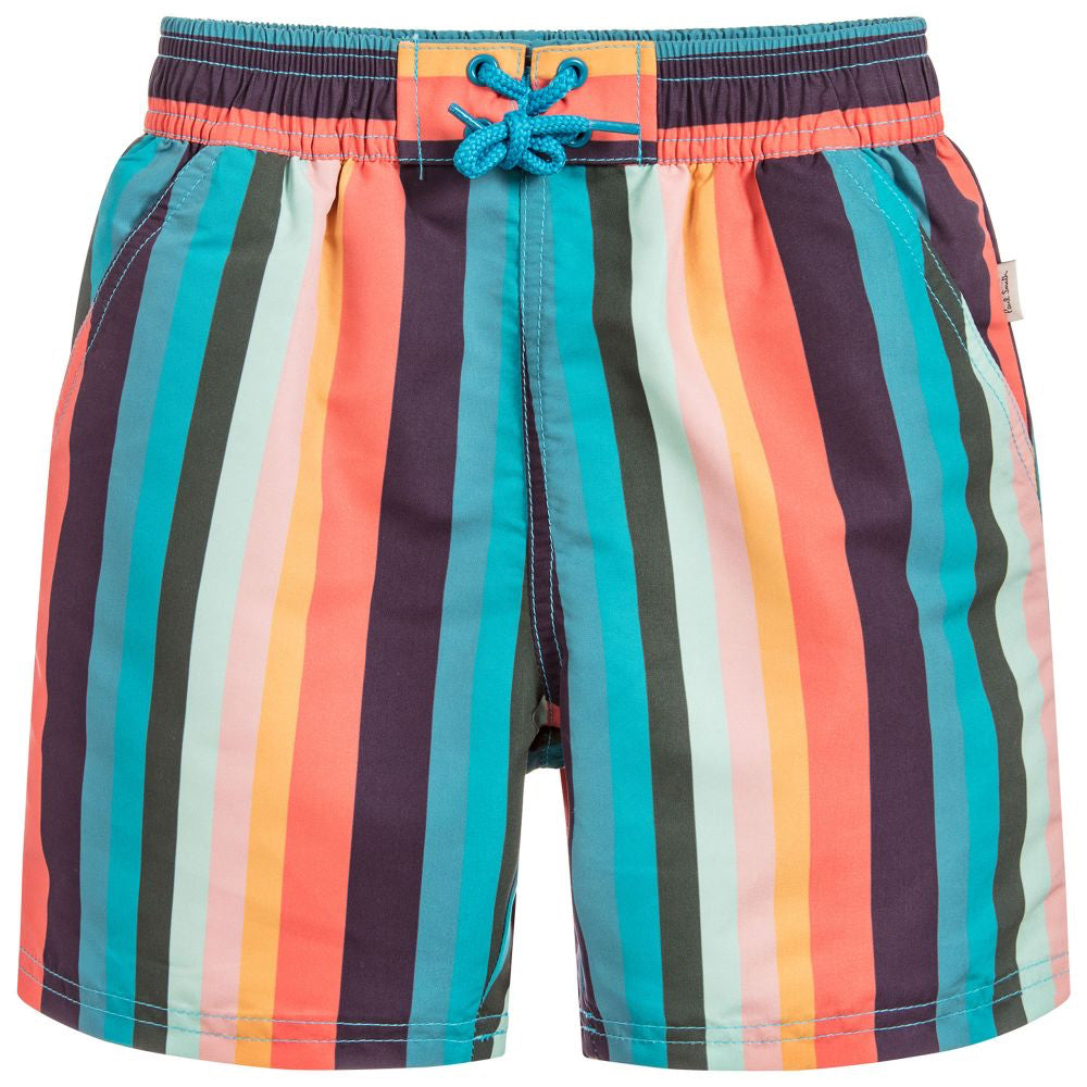 Paul Smith Boys Colorful Striped Swim Shorts