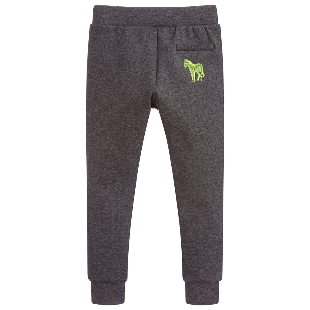 Paul Smith Boys Grey Sweatpants with Colorful Zippers (Mini-Me)