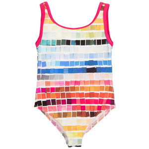 Paul Smith Girls Mosaic Print Swimsuit (Mini-me)