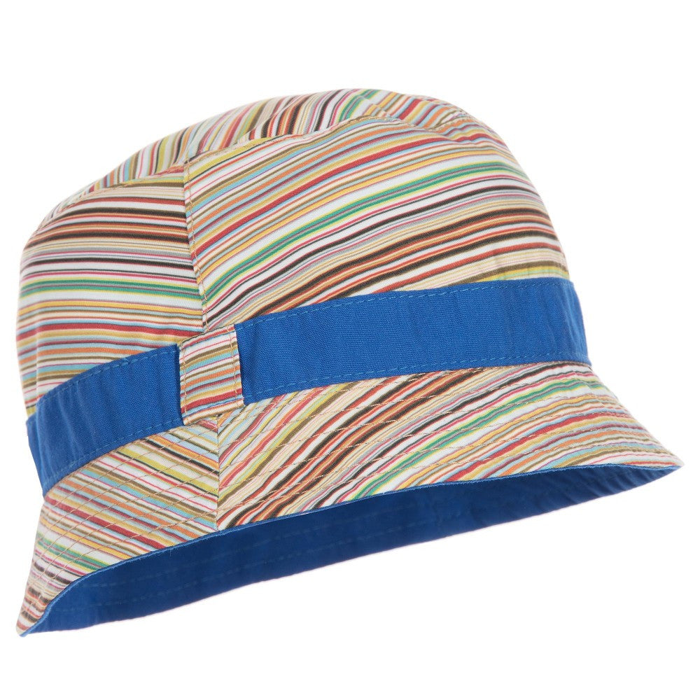 Paul Smith Boys Reversible Marine Blue & Striped Hat