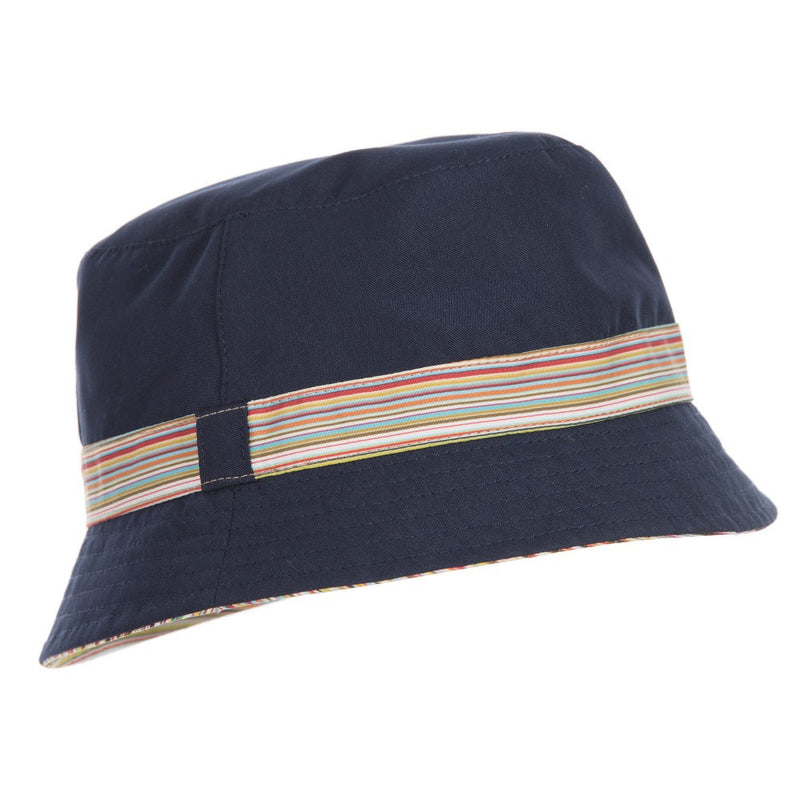 Paul Smith Boys Reversible Navy & Striped Hat