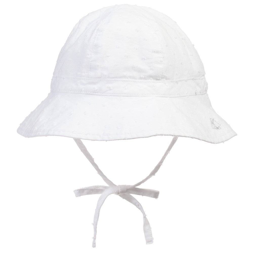 Petit Bateau Baby Girls White Sun Hat – Petit New York 5cbe90c28bb