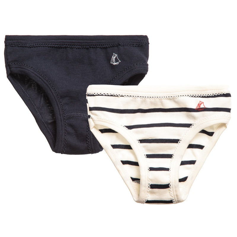Petit Bateau Girls Cotton Underwear Two-Pack