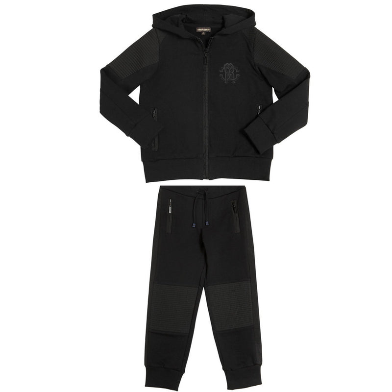 Roberto Cavalli Black Luxury Tracksuit Boys Suits & Blazers Roberto Cavalli Junior [Petit_New_York]