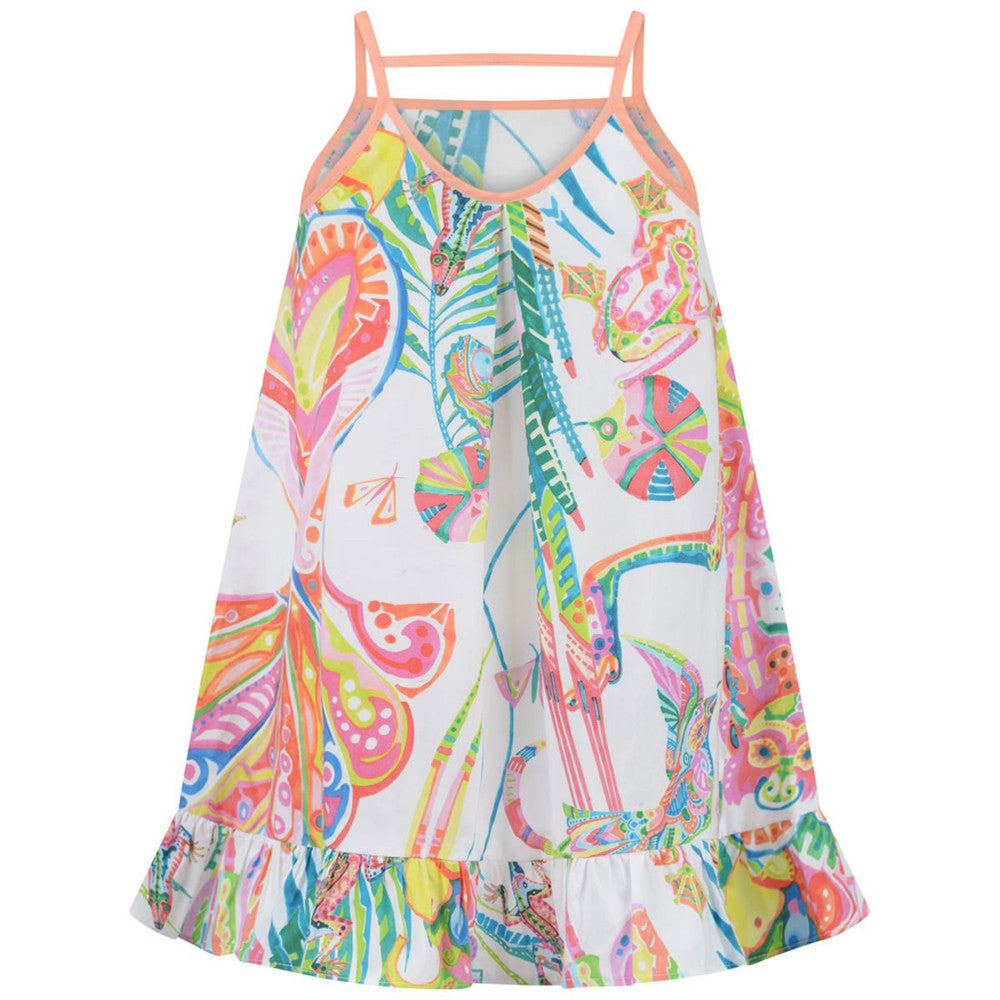 Girls Colorful Jungle Sun Dress