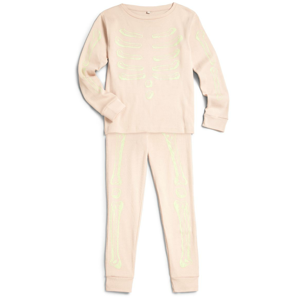 Stella McCartney Girls Pink 'Bones' Pajama Girls Underwear, Socks & Tights Stella McCartney Kids [Petit_New_York]