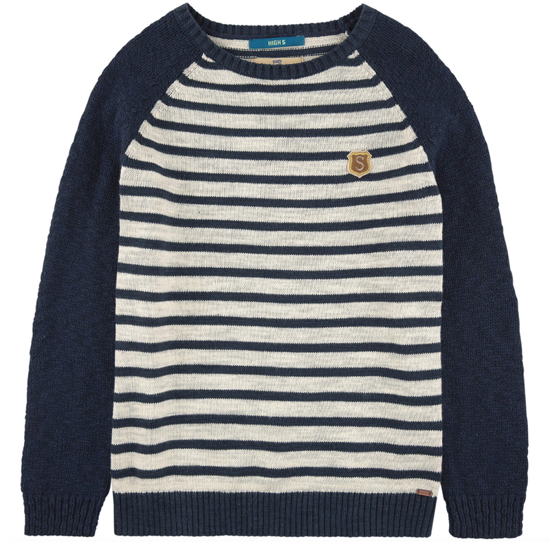 Scotch & Soda Boys Striped Knit Sweater Boys Sweaters & Sweatshirts Scotch Shrunk [Petit_New_York]