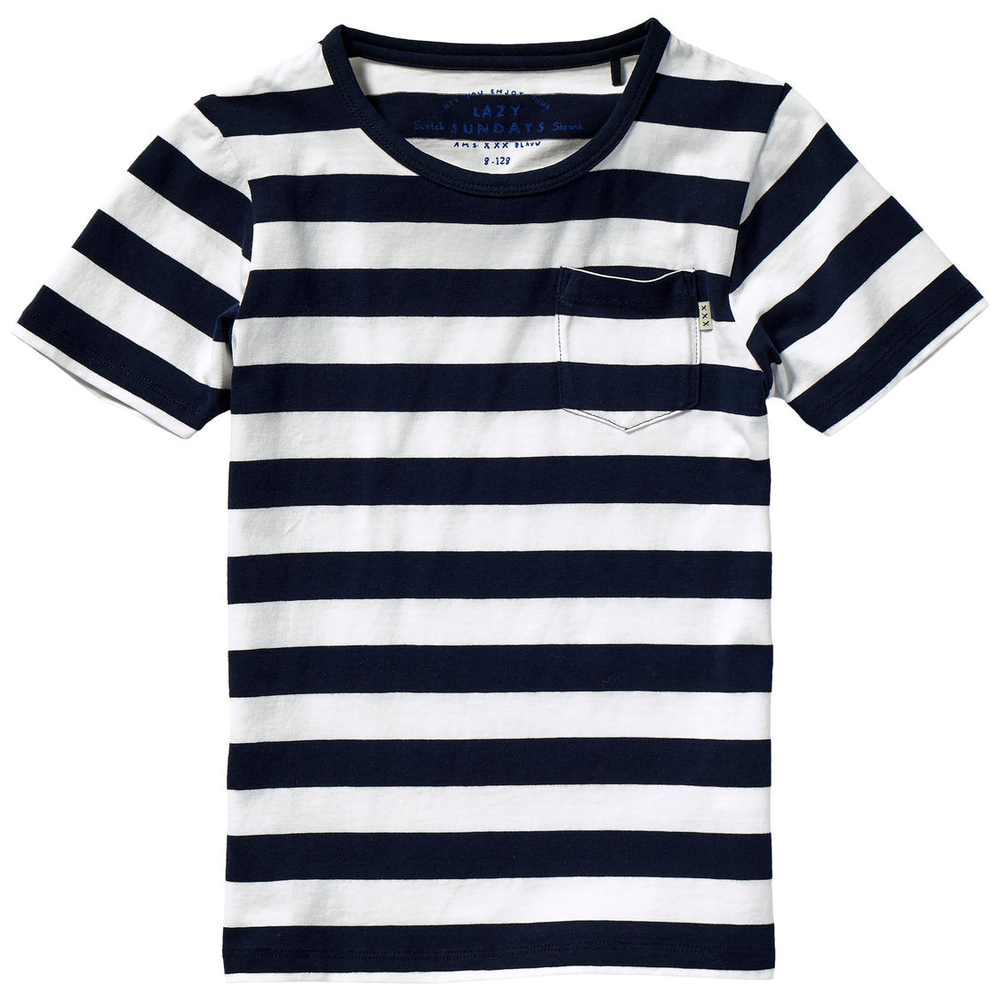 Scotch & Soda Boys Striped Navy T-shirt Boys Shirts Scotch Shrunk [Petit_New_York]
