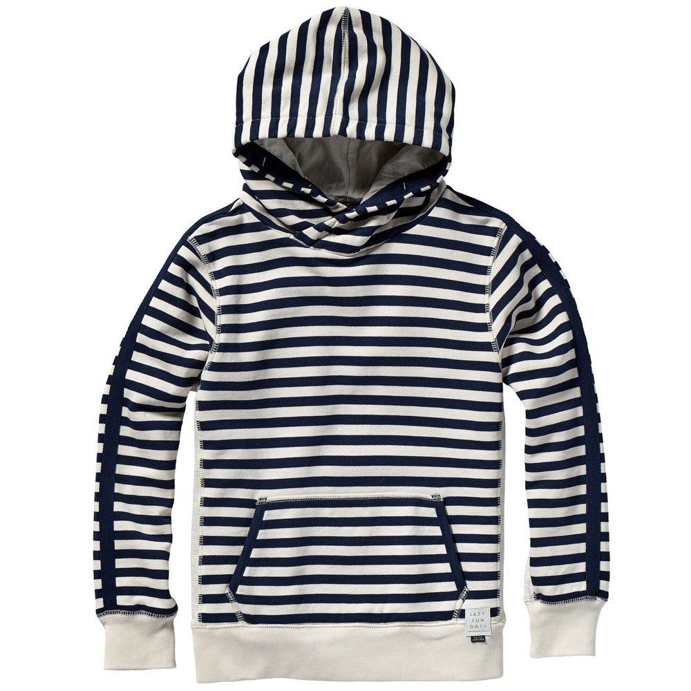 Scotch & Soda Boys Striped Hoodie Boys Sweaters & Sweatshirts Scotch Shrunk [Petit_New_York]