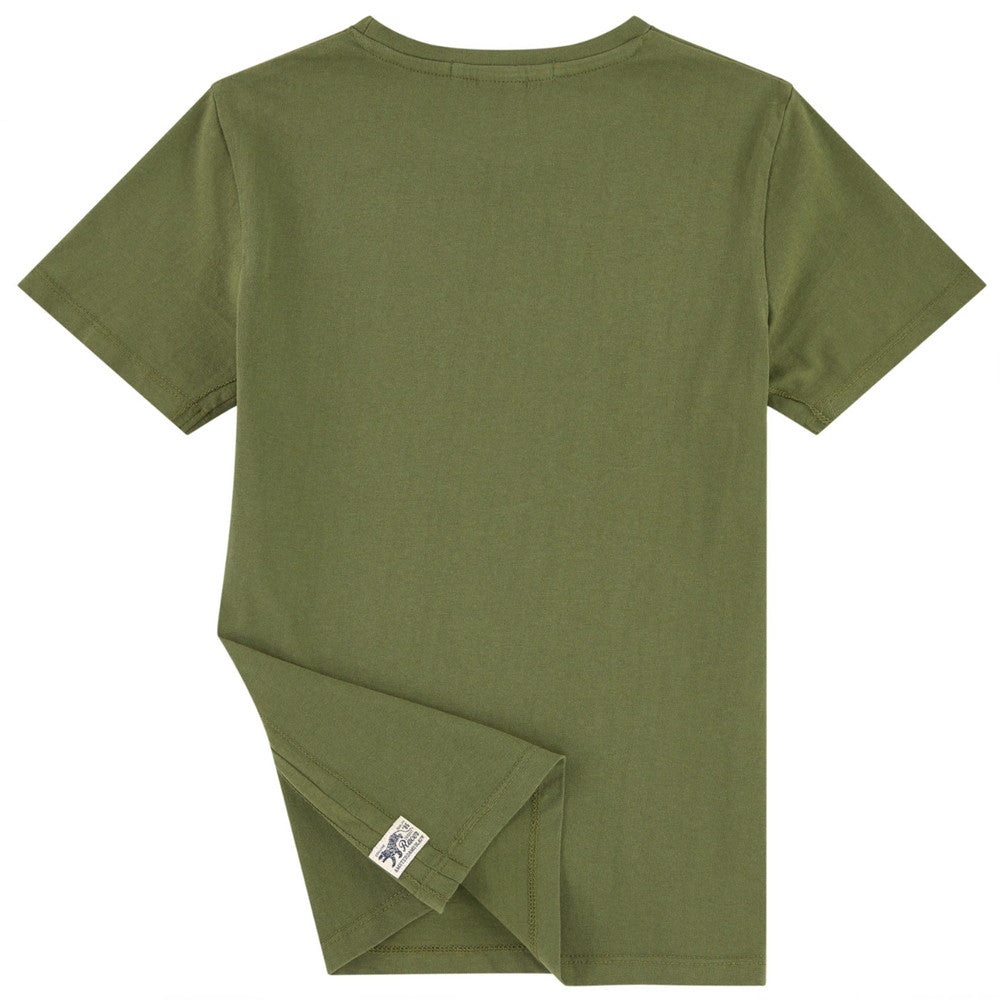 Scotch & Soda Boys Military Green Logo T-shirt | New Collection Boys Shirts Scotch Shrunk [Petit_New_York]