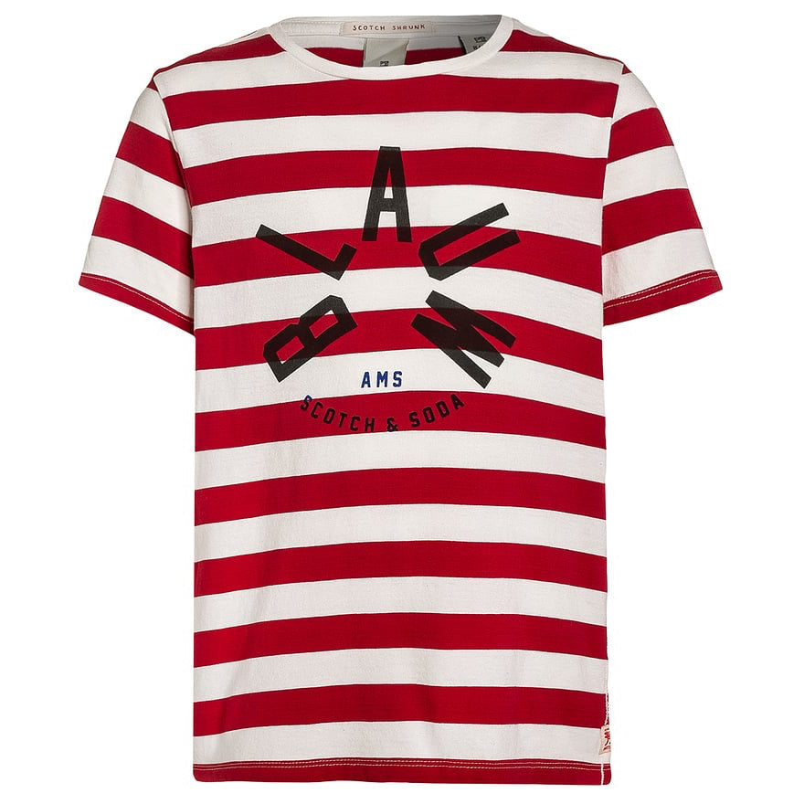 Scotch & Soda Striped Red/White T-shirt | New Collection Boys Shirts Scotch Shrunk [Petit_New_York]