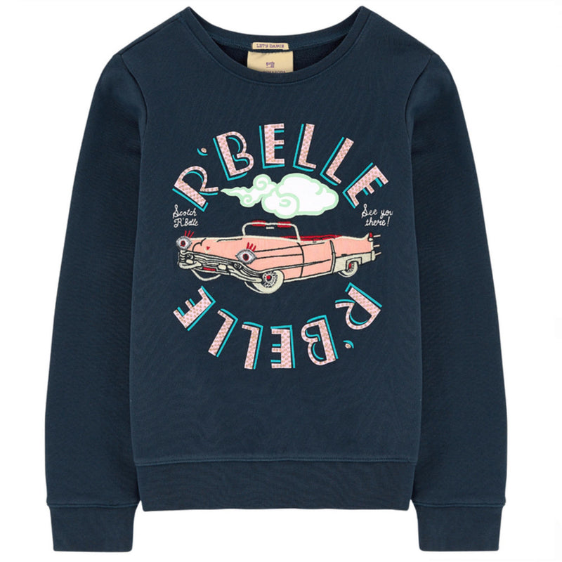 Scotch & Soda Navy Blue R'belle Sweatshirt Girls Sweaters & Sweatshirts Scotch Shrunk [Petit_New_York]