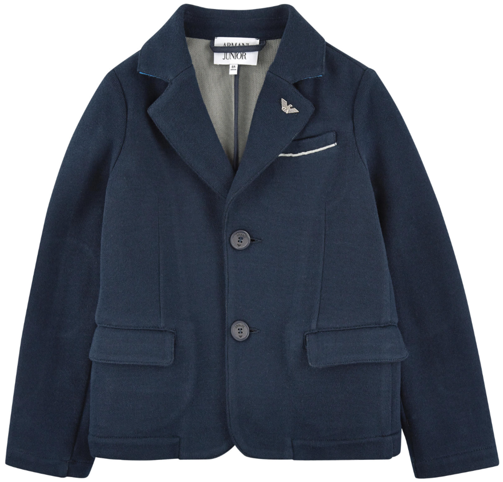 Armani Boys Navy Blazer Boys Suits & Blazers Armani Junior [Petit_New_York]
