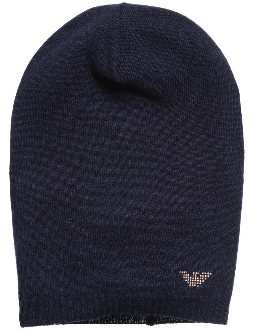 Armani Girls Navy Wool Hat Girls Hats, Scarves & Gloves Armani Junior [Petit_New_York]
