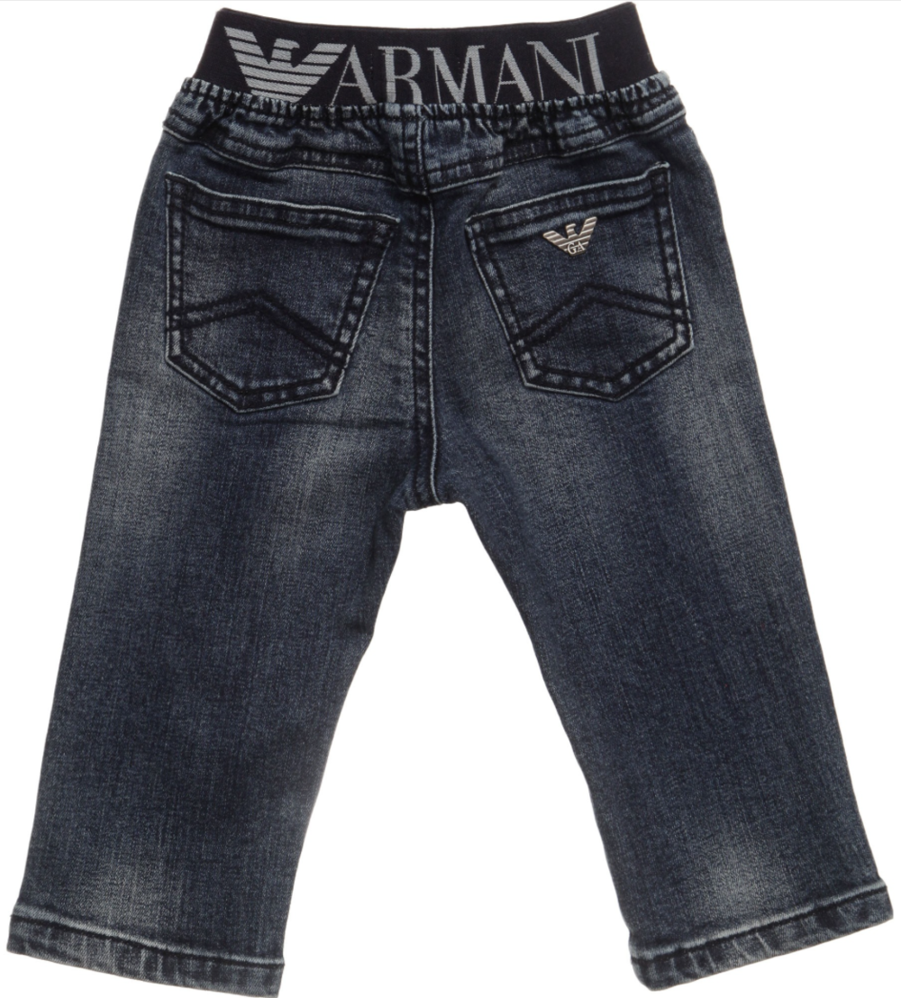 Armani Baby Soft Denim Waistband Jeans Baby Bottoms Armani Junior [Petit_New_York]