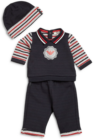 Armani Baby Three-Piece Gift Set Baby Sets & Suits Armani Junior [Petit_New_York]