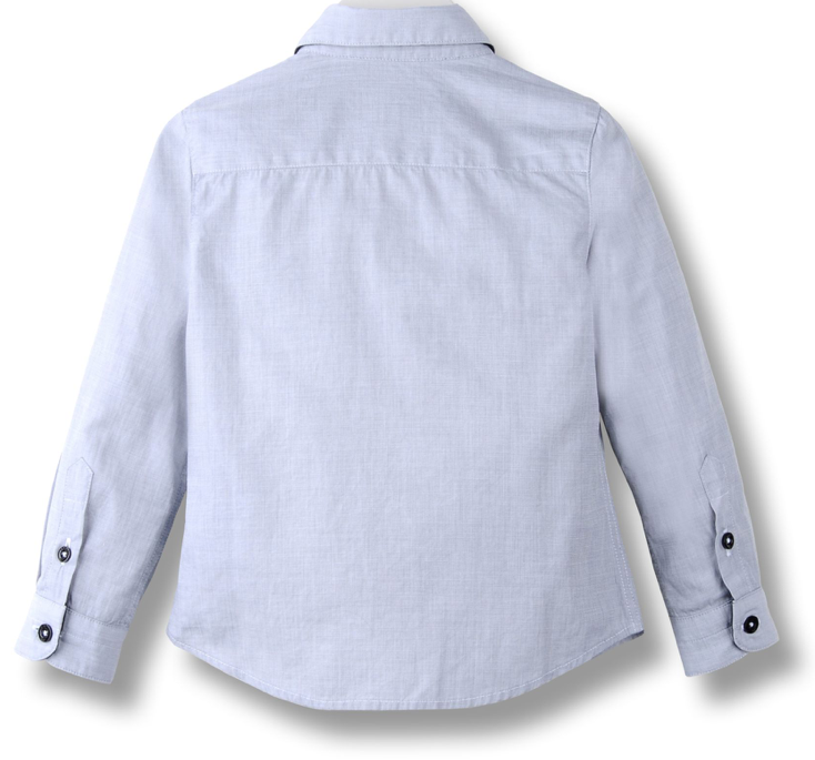Armani Boys Button-Down Shirt Boys Shirts Armani Junior [Petit_New_York]