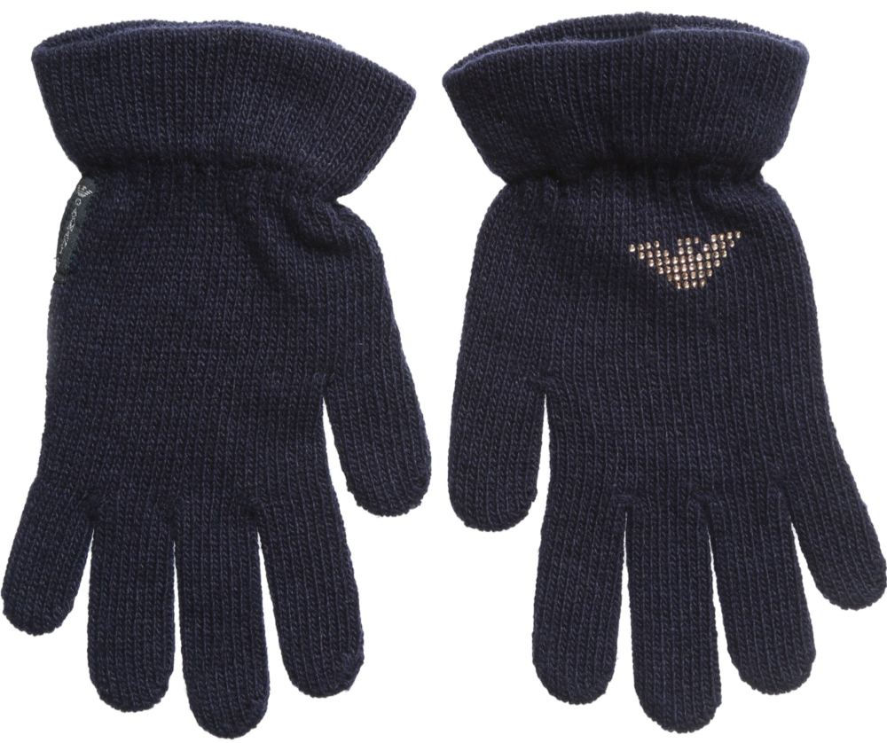 Armani Girls Navy Blue Gloves Girls Hats, Scarves & Gloves Armani Junior [Petit_New_York]