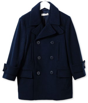 Stella McCartney Girls Navy Wool Peacoat Girls Jackets & Coats Stella McCartney Kids [Petit_New_York]
