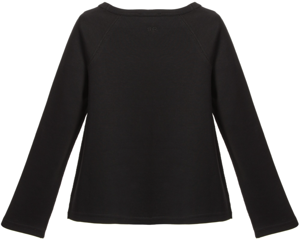 Sonia Rykiel Girls 'Cat and Girl' Long-Sleeved T-shirt Girls Tops Rykiel Enfant [Petit_New_York]