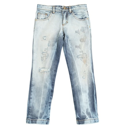 Versace Girls Ripped Denim Jeans Girls Pants Young Versace [Petit_New_York]