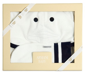 Armani Baby Bathrobe & Mitt Gift Set Accessories Armani Junior [Petit_New_York]