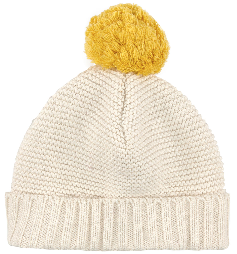 Stella McCartney Baby Creme Hat Baby Hats, Scarves & Gloves Stella McCartney Kids [Petit_New_York]
