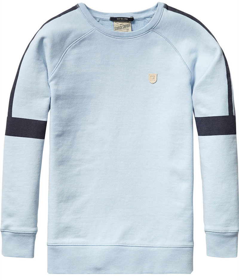Scotch & Soda Boys Light-Blue Sweatshirt Boys Sweaters & Sweatshirts Scotch Shrunk [Petit_New_York]