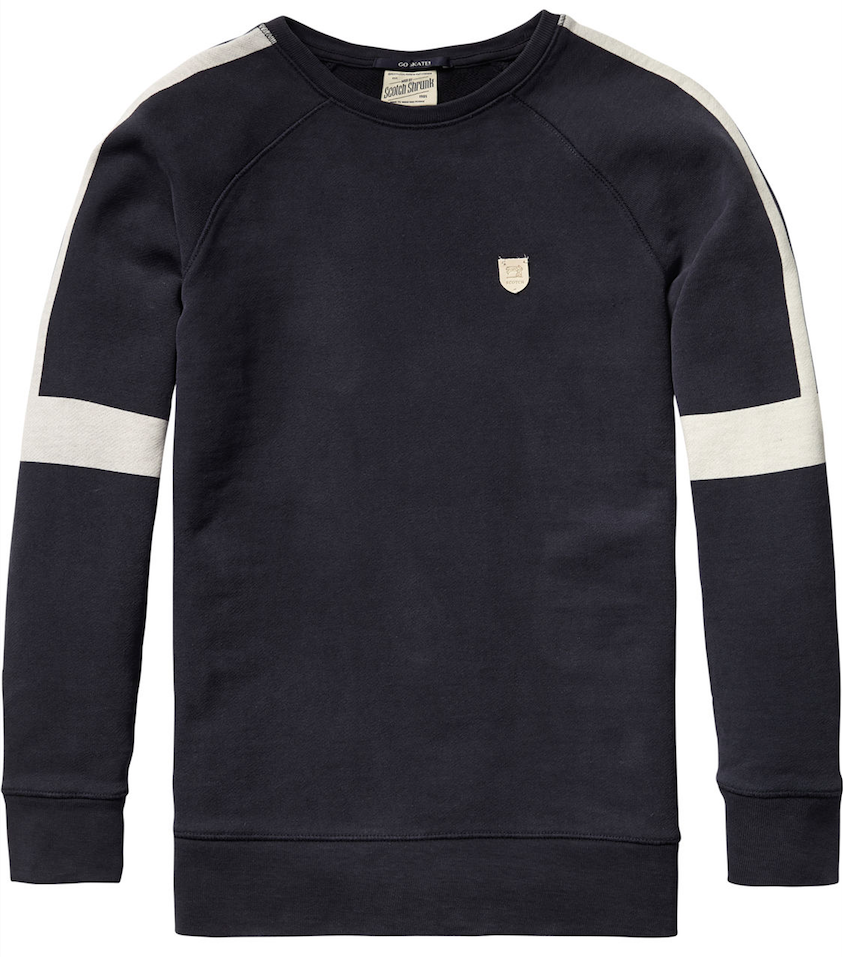 Scotch & Soda Boys Navy Sweatshirt Boys Sweaters & Sweatshirts Scotch Shrunk [Petit_New_York]
